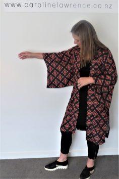 Japanese fan print Kimono (3)