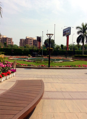 Seating Space Outside the Promenade Mall
