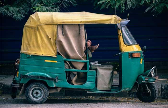 Auto Rickshaw at New Delhi City