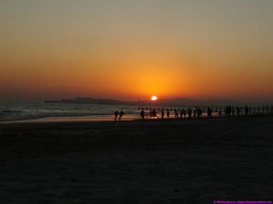 Footballers on the beach at sunset - Salalah 21.12.14