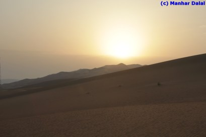 sunrise from atop a dune