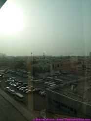 View from the room -not very exciting but you could see the high buildings which line the creek in the distance