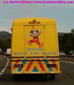 Followed this ice cream van for a bit - too cold to stop him tho!