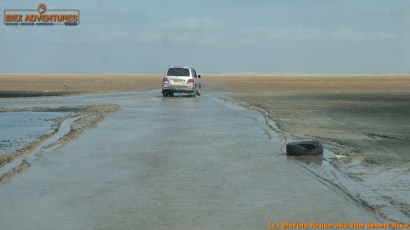 water filled track - makes a real mess of your car