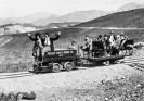 Mancha electric Locomotive. Major Boyd, operator 1926 - Courtesy National Park Service, Death Valley National Park