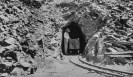 Mr. Ryan in tunnel, Ryan Mine 1914 - County of Inyo, Eastern California Museum