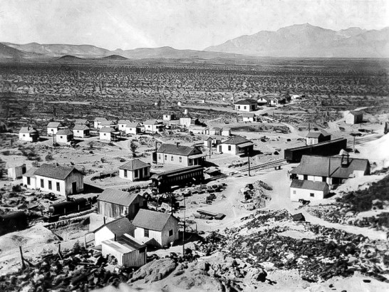 Lila C Mine - The Camp at Lila C in 1910 - Courtesy National Park Service, Death Valley National Park