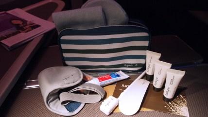 Agnes B amenity kit contents