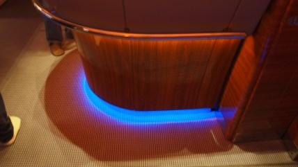 The onboard bar mood lighting