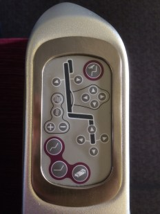 The seat controls of the 777