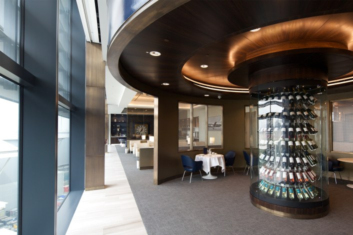Wine Room in United Global First Lounge, Heathrow T2