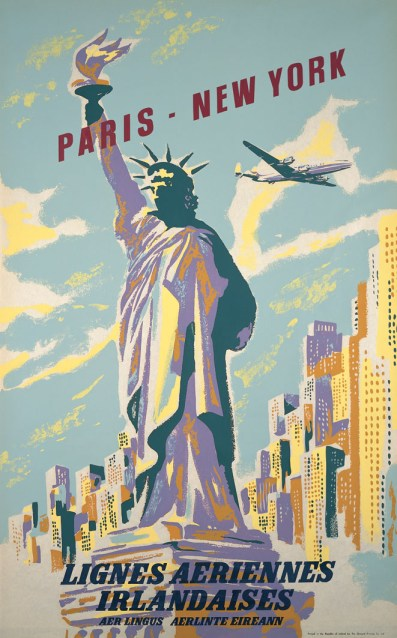 Paris - New York Poster