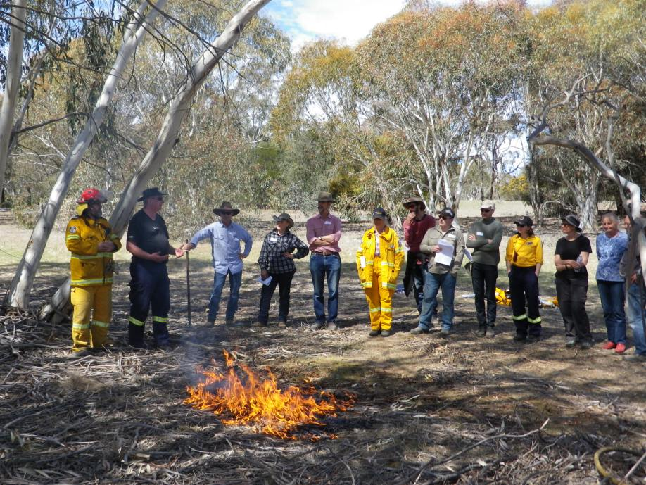 The Hotspots workshop included a prescribed burn Image: K. McShea, Hotspots Fire Project