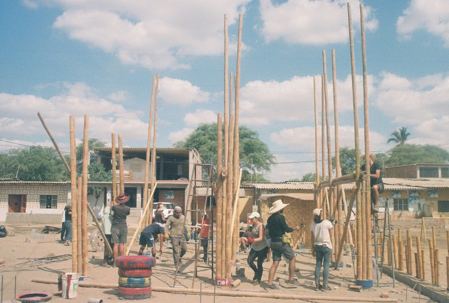 As co-designers, the community encouraged us to utilise local bamboo to build the platform and structure that would serve as a playground, shading device, and an elevated flood evacuation meeting point.