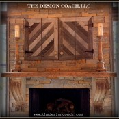 The Design Coach - Reclaimed Wood Fireplace and Mantel