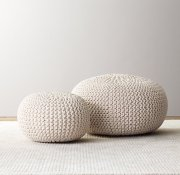 Restoration Hardware Baby & Child Knitted Poufs