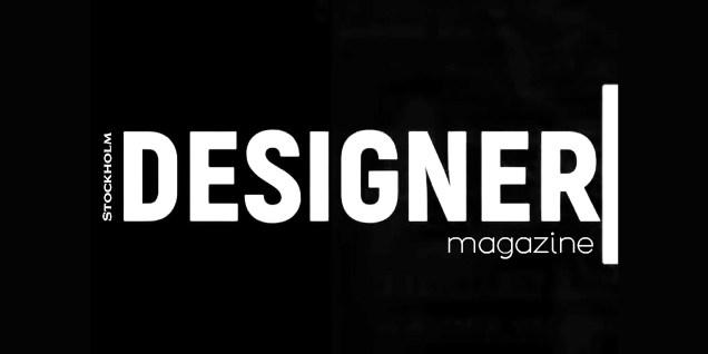 logo DESIGNER MAGAZINE BLACK