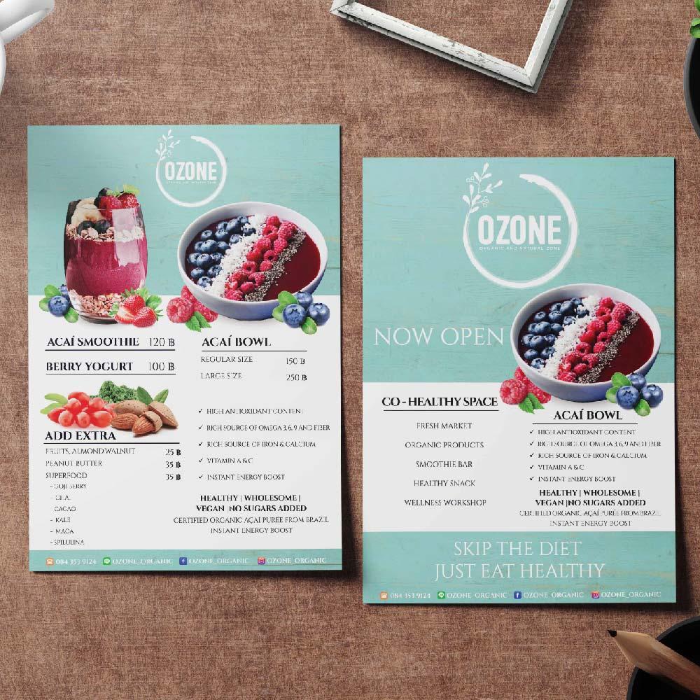 เมนูอาหาร OZONE