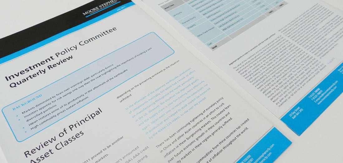 newsletter design.