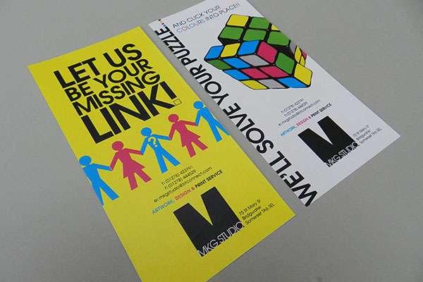 Leaflet design for graphic design company, Bridgwater, Somerset