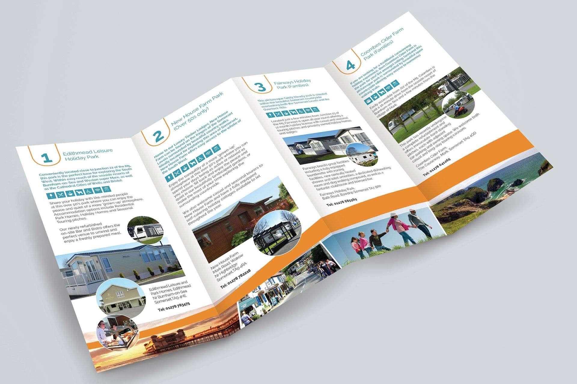 Folded Leaflet Design for Holiday Park in Somerset