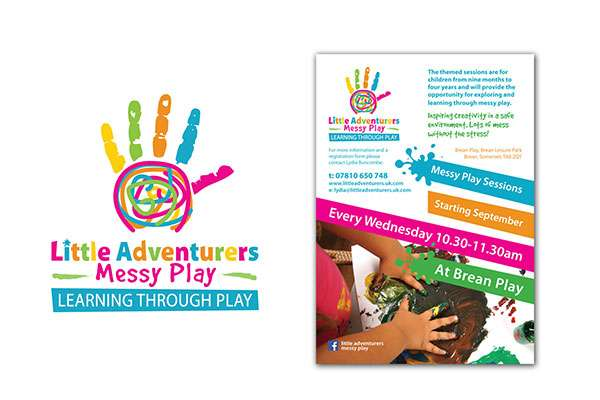 Logo design for Children's messy play at Brean Play, Somerset