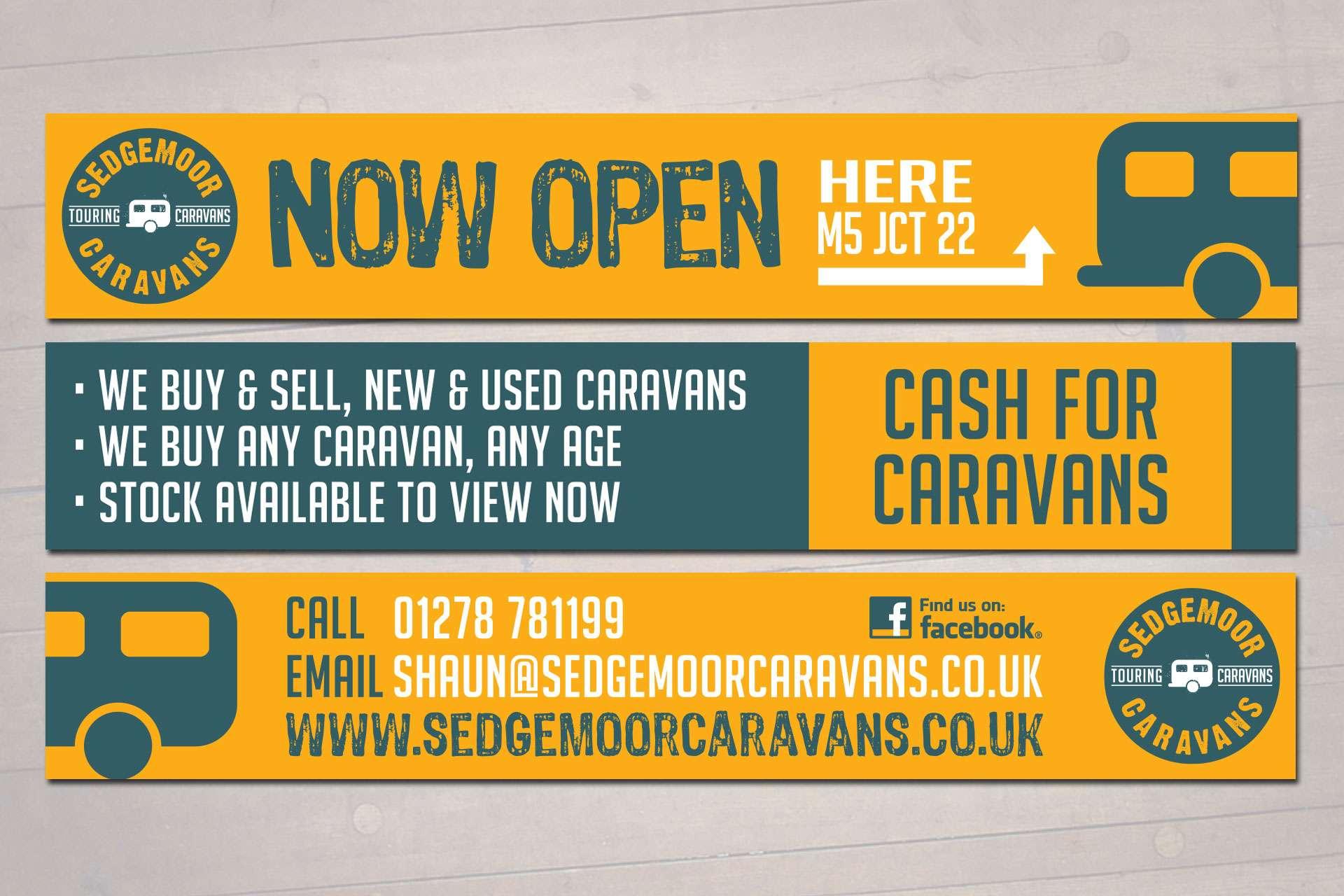 Banner design for caravan sales company in Somerset