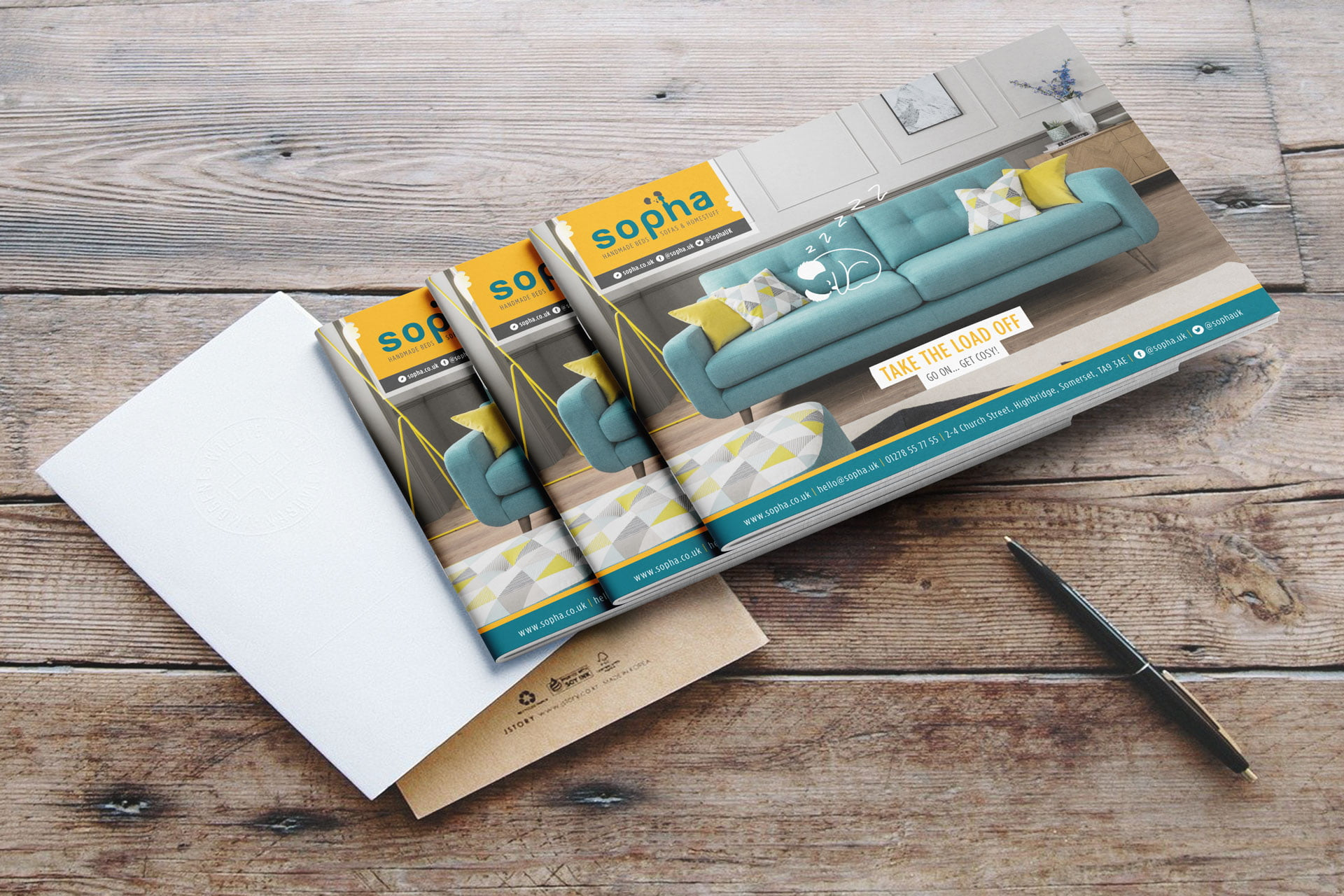 Sopha-furniture-brand-brochure-highbridge The Importance of Branding & Graphic Design in a Business