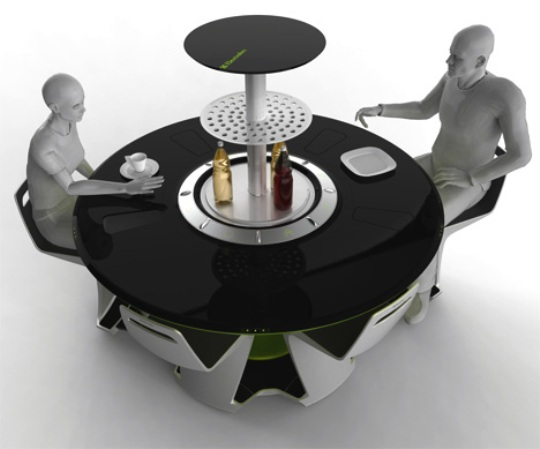 All In One Futuristic Compact Kitchen By Petr Kubik