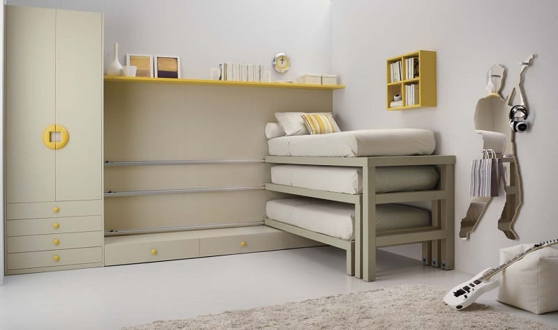 Modern Bedrooms For Youngsters With Practical Modular