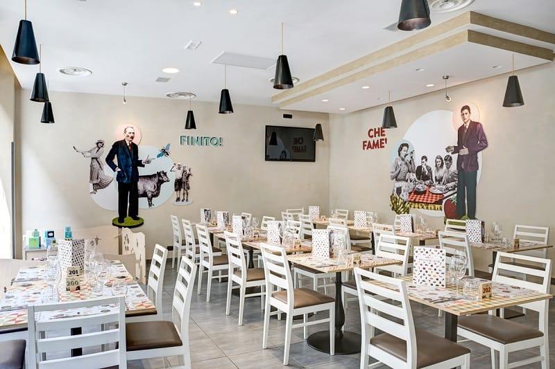 Italian Restaurant With A Warm Retro Interior