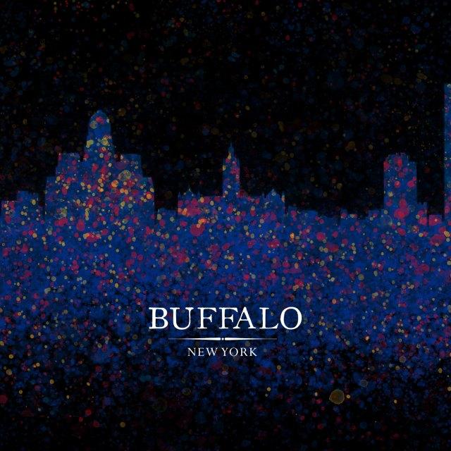 The Design Jedi - Digital Painting - Buffalo, NY Skyline