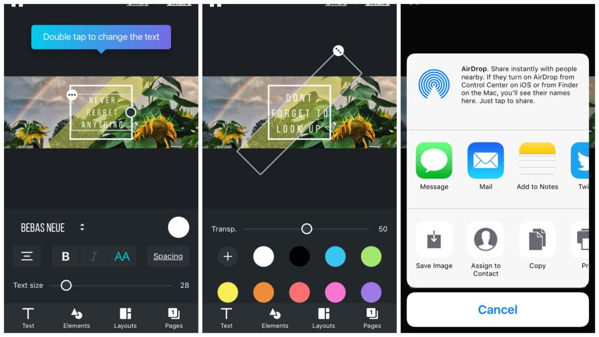 Canva for iPhone | App Review | The Design Jedi | App Screenshots 3