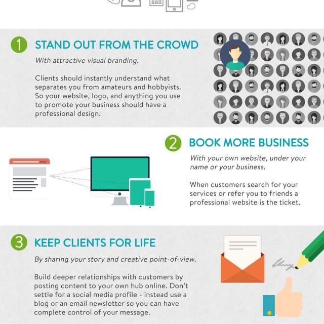 5 Essentials for Creative Business Owners Infographic | Infographic Designs | The Design Jedi