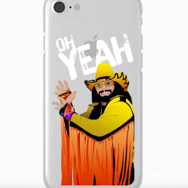 Randy Macho Man Savage Design | Clear Phone Case | The Design Jedi