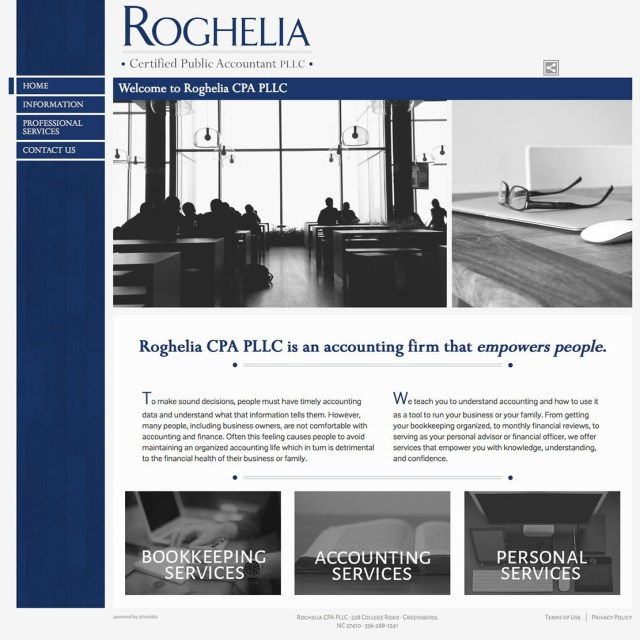 Website Redesign - Roghelia CPA PLLC. - After