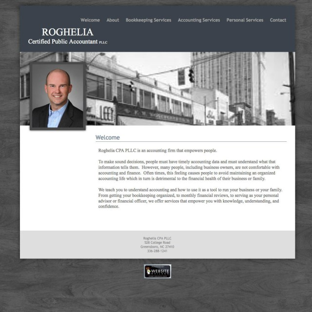 Website Redesign - Roghelia CPA PLLC. - Before