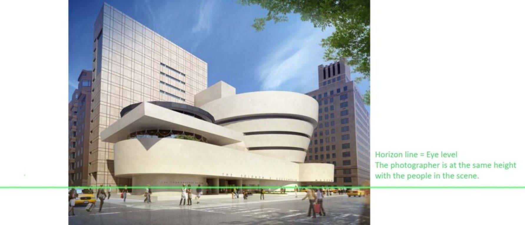 Guggenheim museum New York City 2 Horizon line