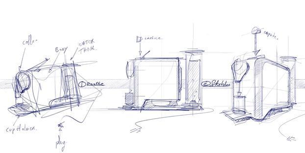 3 steps to draw the coffee machine