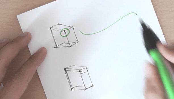 Corner thin line Broad nib ID Sketching with Pantone Tria