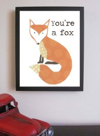 """You're a Fox"" Nursery Art by FitToPrintDesigns on Esty 