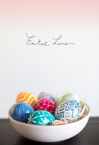 Pysanky (Ukrainian) Easter Eggs | via http://thealisonshow.com/2013/03/diy-ukrainian-pysanky-easter-eggs.html