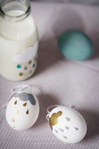 Whimsy Sticker Eggs   via http://fraeulein-klein.blogspot.no/2013/03/crocs-schokoladen-pancakes-und-bemalte.html