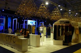 The Cape Town Fashion Council section... love the hanger chandeliers! | Photo: Laurita Smal