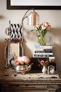 A beside table that tells a story in the beautiful eclectic Cape Town home of Sandra van der Merwe | via House & Leisure