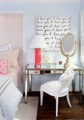A pop of bright colour | via http://www.houzz.com/photos/2357509/Eclectic-Bedroom-eclectic-bedroom-dc-metro