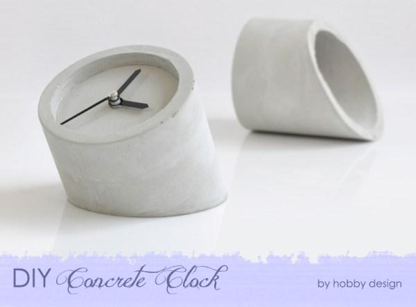DIY Concrete Clock {The Design Tabloid}