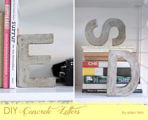 DIY Concrete Letters {The Design Tabloid}