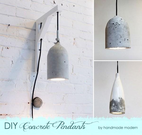 DIY Concrete Pendant Lights {The Design Tabloid}