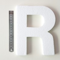 3) Measure the thickness of the letter with a ruler or measuring tape. Our letter measured 15mm.